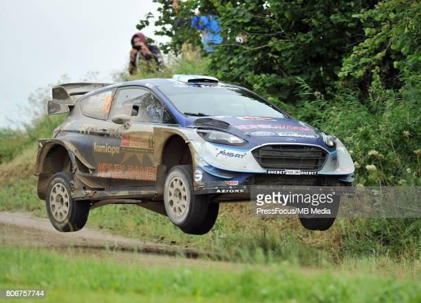 Teemu Suninen FIN Mikko Markkula FIN M Sport World Rally Team during the WRC Orlen 74 Rally Poland on July 02 2017 in Mikolajki Poland