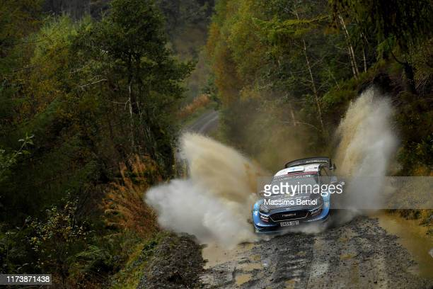 Teemu Suninen of Finland and Jarmo Lehtinen of Finland compete with their MSport Ford WRT Ford Fiesta WRC during Day Two of the FIA WRC Dayinsure...