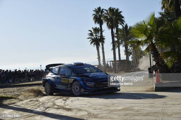 Teemu Suninen of Finland and Jarmo Lehtinen of Finland compete with their MSport FORD WRT Ford Fiesta WRC during Day Two of the FIA WRC RACC...