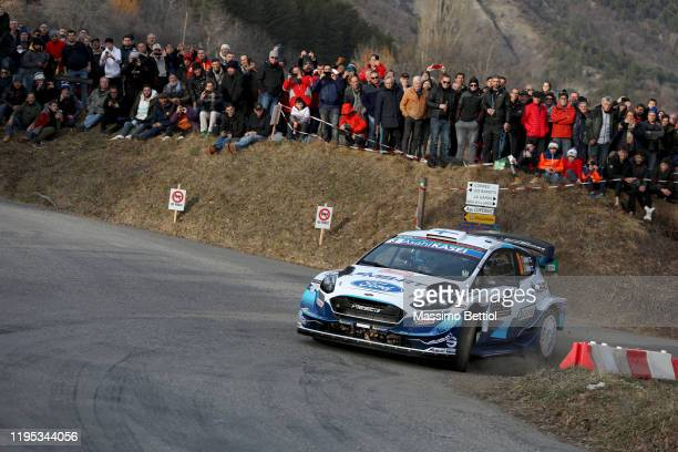 Teemu Suninen of Finland and Jarmo Lehtinen of Finland compete with their MSPORT FORD WRT Ford Fiesta WRC during the shakedown of the FIA World Rally...