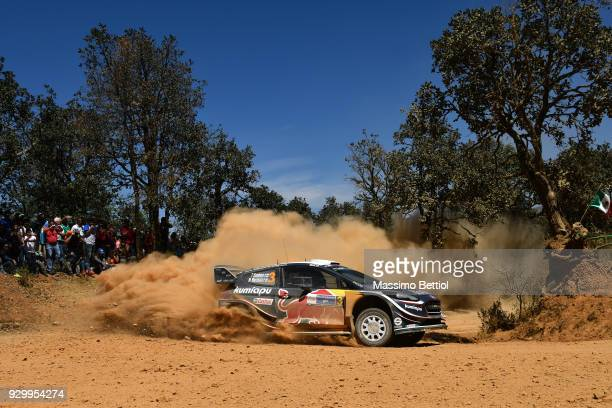 Teemu Suninen of Finland and Mikko Markkula of Finland compete in their MSport Ford WRT Ford Fiesta WRC during Day One of the WRC Mexico on March 9...