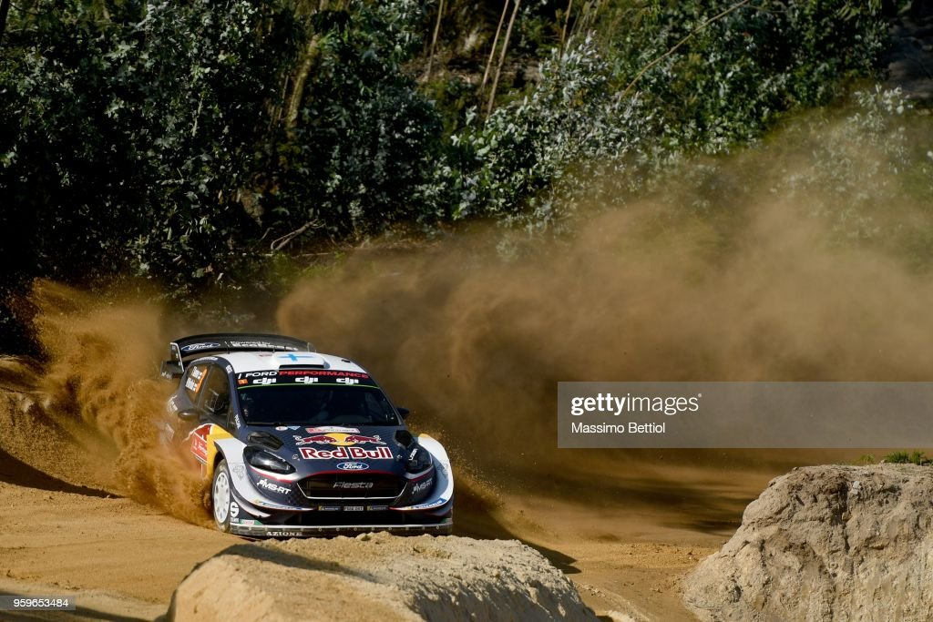 Teemu Suninen of Finland and Mikko Markkula of Finland compete with their M-Sport Ford WRT Ford Fiesta WRC during Day One of the WRC Portugal on May 17, 2018 in Faro, Portugal.
