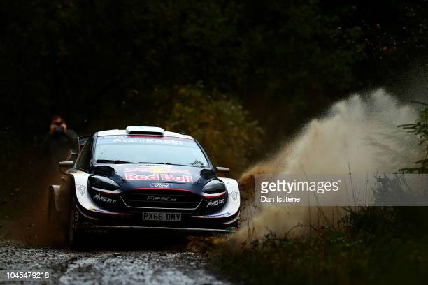 Teemu Suninen of Finland and MSport Ford World Rally Team drives with codriver Mikko Markkula of Finland during the Shakedown on day one of the FIA...