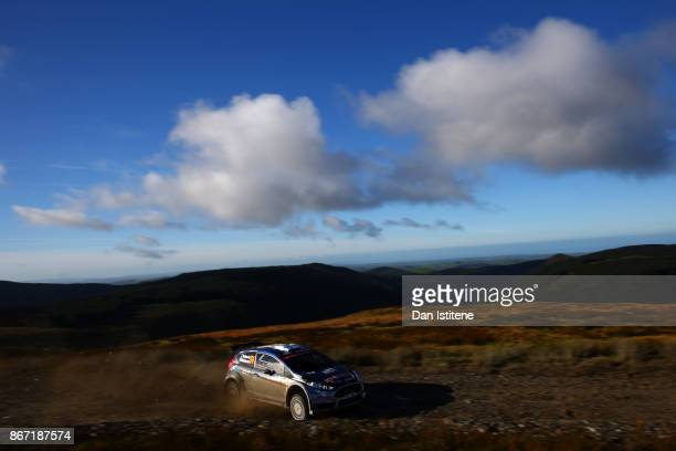 Teemu Suninen of Finland and MSport World Rally team drives with codriver Mikko Markkula of Finland during day one of the FIA World Rally...