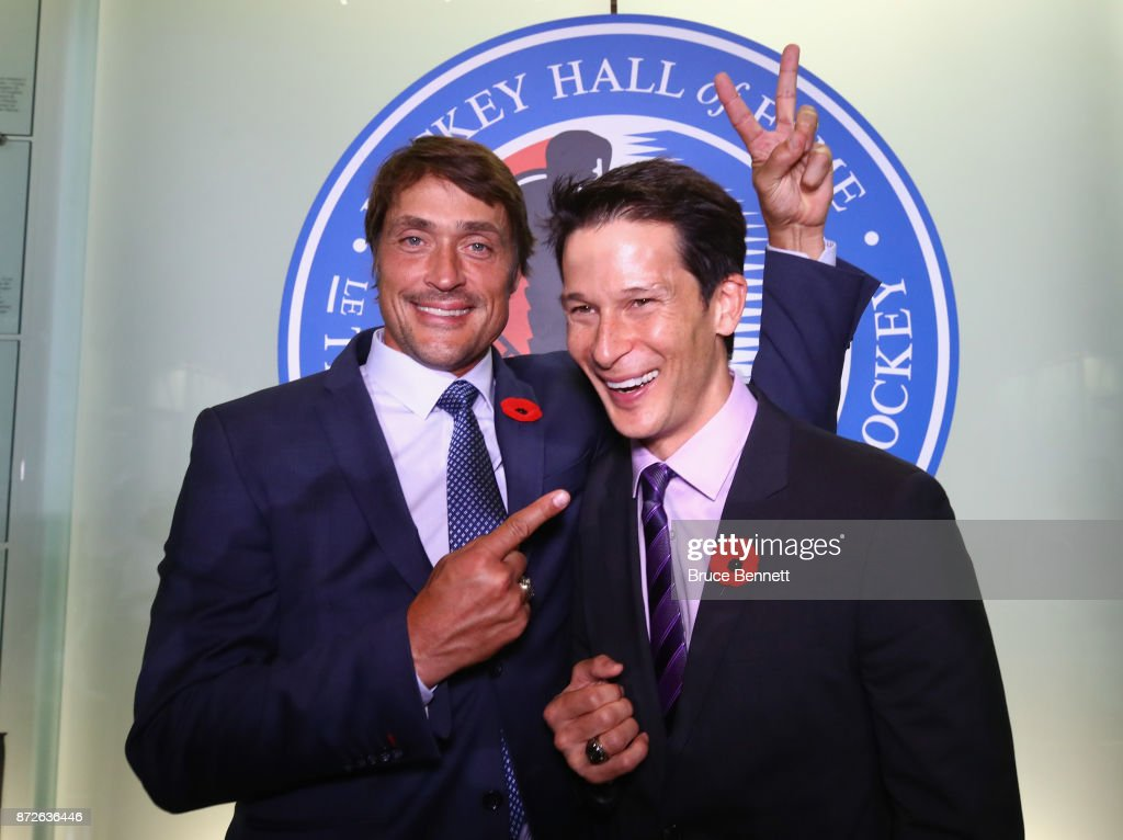 2017 Hockey Hall Of Fame Induction - Press Conference : News Photo