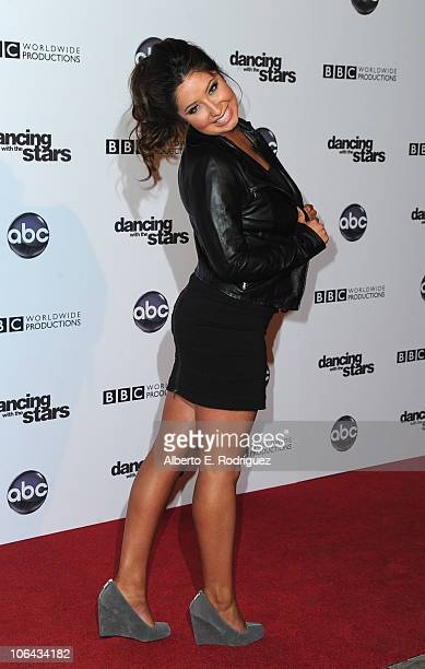 Teen activist Bristol Palin arrives to ABC's Dancing With The Stars 200th episode party on November 1 2010 in Los Angeles California
