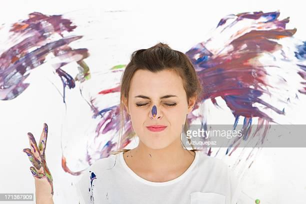 teen artista - pintar mural fotografías e imágenes de stock
