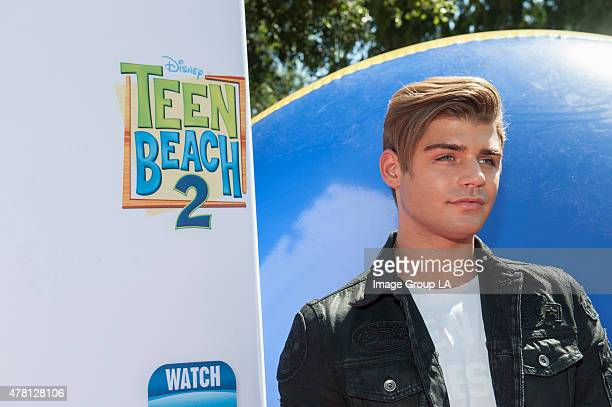 """Teen Beach 2 Premiere Event - Ross lynch, Maia Mitchell, R5 and the stars of the Disney Channel Original Movie """"Teen Beach 2,"""" kickoff the movie's..."""