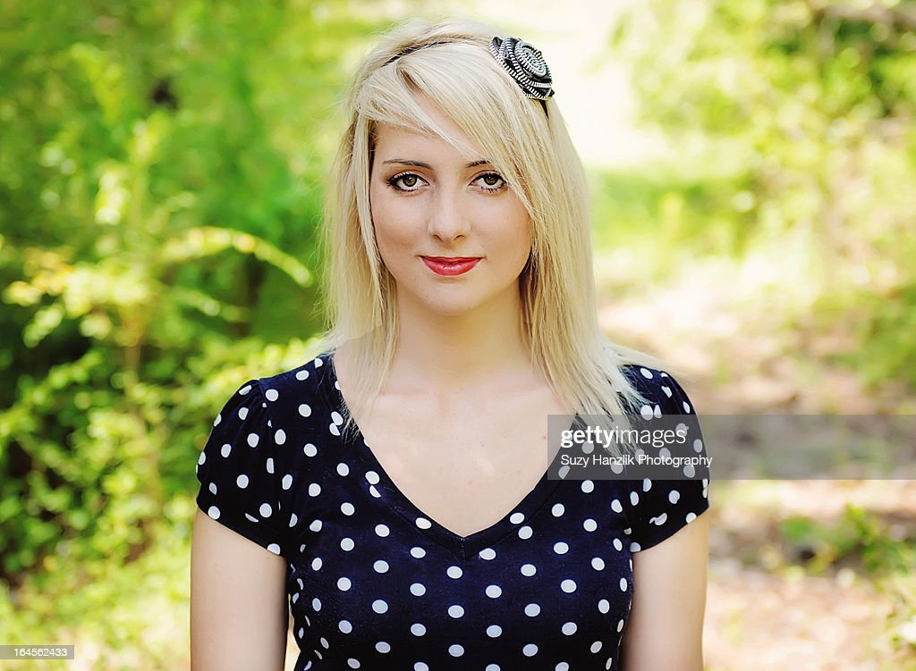 Teen Blonde Girl Smiling Stock Photo  Getty Images-3095