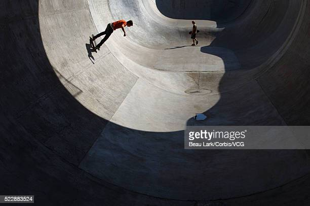 Teen boys at skate park