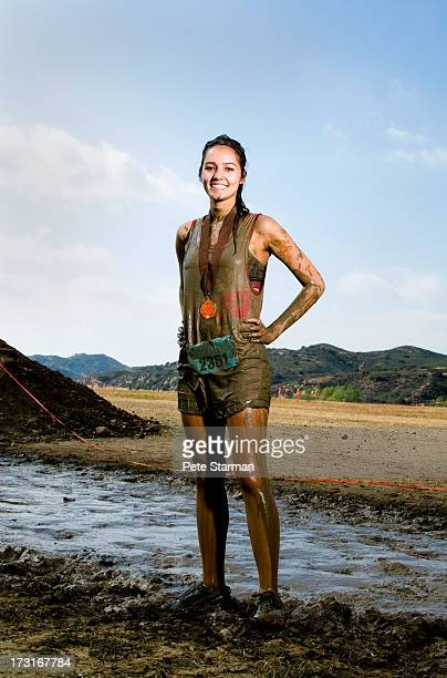 Teen competing in Mud Run( 18-25) yrs old.