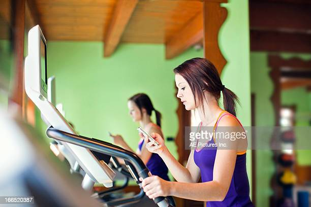 Teen exercises in gym