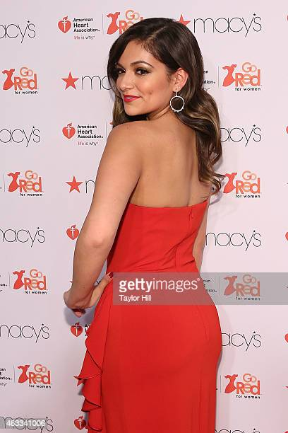 Teen fashion icon Bethany Mota attends the Go Red For Women fall 2015 fashion show on February 12 2015 in New York City