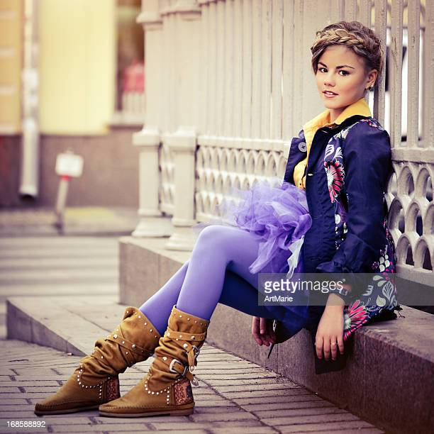 teen fashion - petite teen girl stock photos and pictures