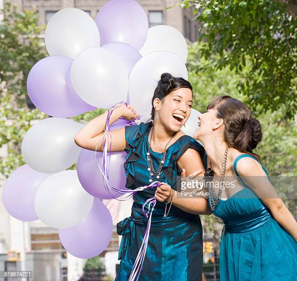 Teen Friends with balloons