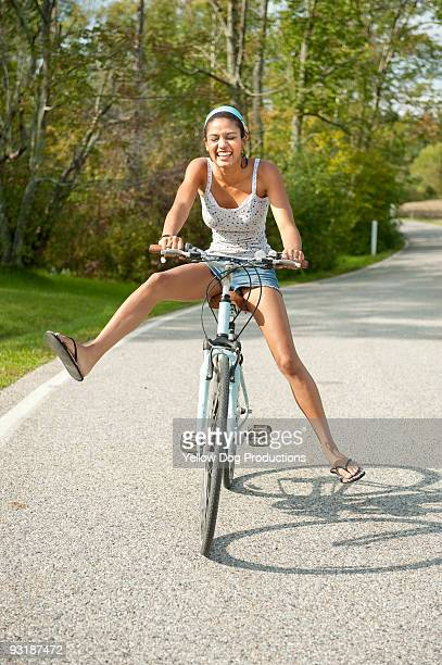 Teen Girl Biking