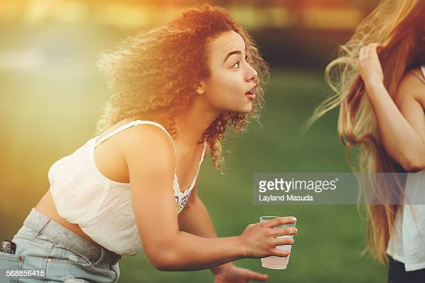 teen girl fun energy - sleeveless top stock pictures, royalty-free photos & images