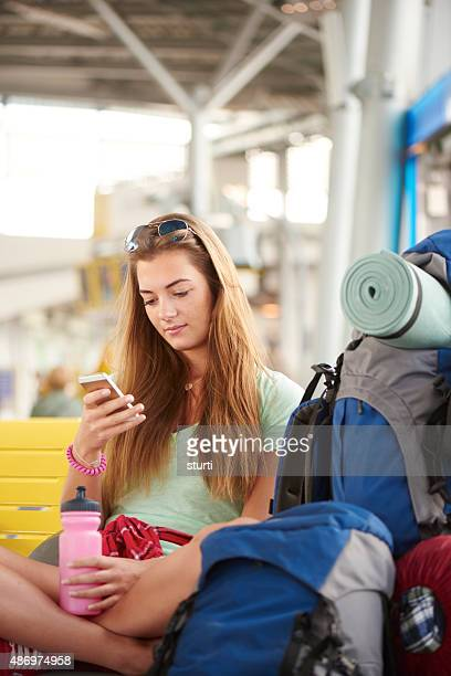 Teen girl heading on vacation