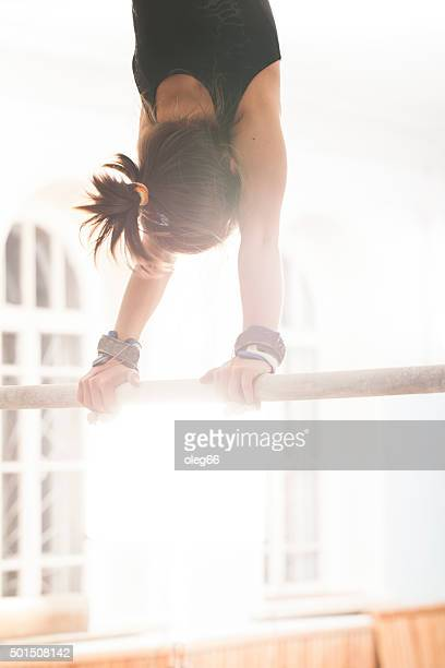 teen girl in a sports hall