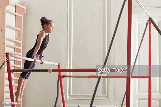 teen girl in a sports hall - gymnastics stock pictures, royalty-free photos & images