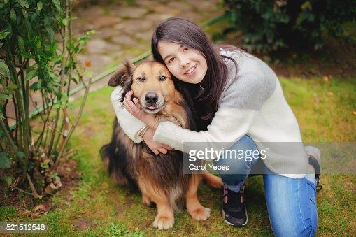 Teenager petting