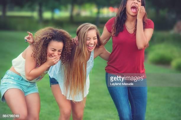 Teen Girlfriends Laughing