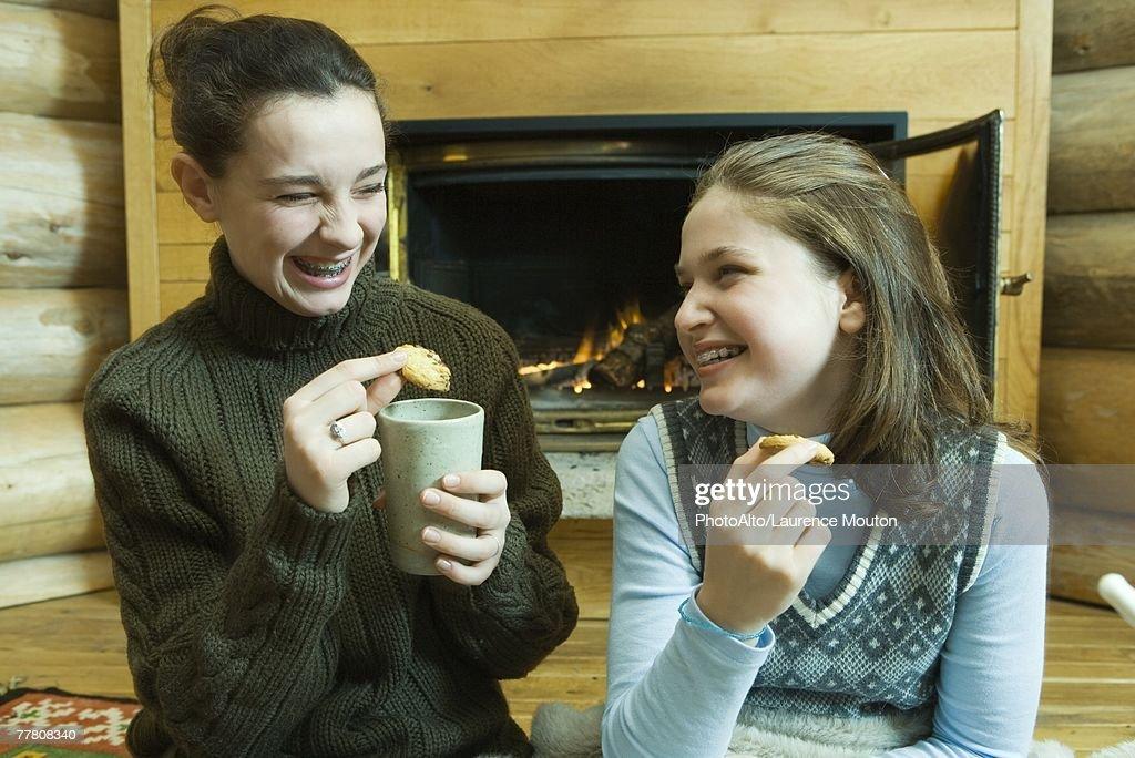 Teen girl fucks younger brother