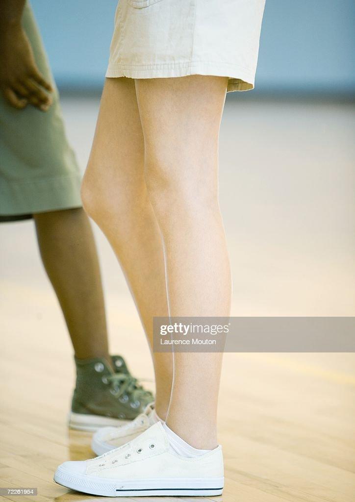 Teen Girls Legs Stock Photo