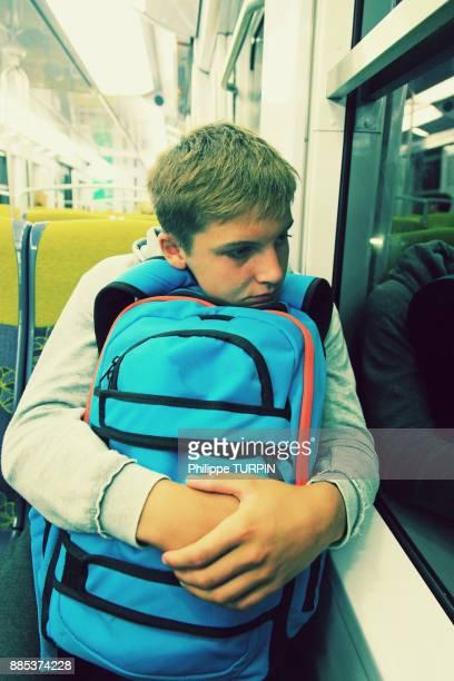 Teen going to school.