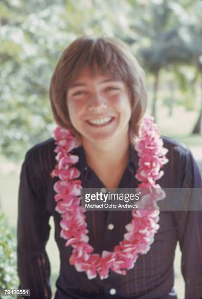 Teen idol David Cassidy aka Keith Partridge the lead singer of 'The Partridge Family' poses for a portrait wearing a Hawaiian flower necklace or lei...