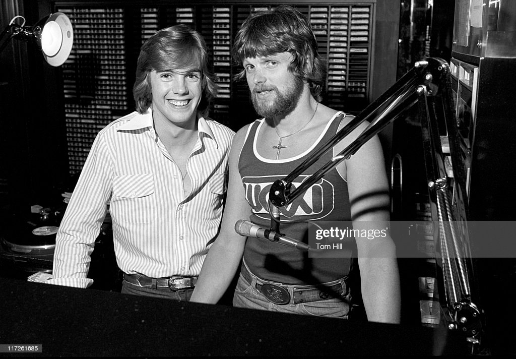 Shaun Cassidy with WQXI radio personality Coyote McCloud
