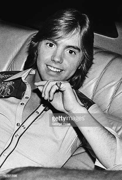 Teen idol singing sensation and son of actress Shirley Jones, Shaun Cassidy, poses in this 1979 Hollywood, California, photo taken in the back of...