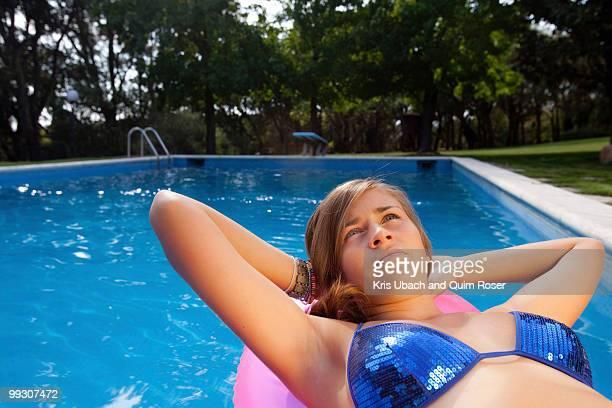 Teen in a pool