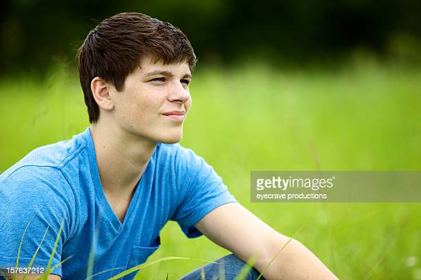 teen male outdoors late summer - eyecrave stock pictures, royalty-free photos & images