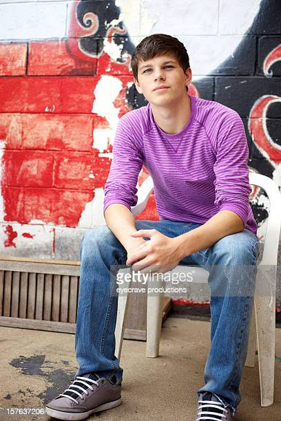 teen male urban outdoors late summer - eyecrave stock pictures, royalty-free photos & images