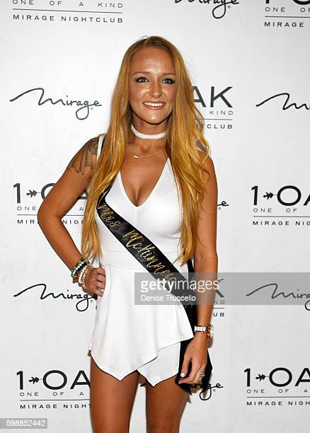 Teen Moms OG star Maci Bookout arrives at her bachelorette party at 1 OAK Las Vegas in the Mirage Hotel and Casino September 2 2016 in Las Vegas...