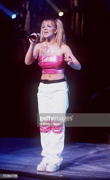 "Teen pop sensation, Britney Spears performing at Universal Ampitheater for her ""Baby One More Time"" tour in Universal City, CA. July 31, 1999."