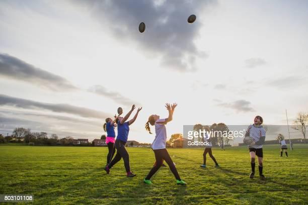 Teen Rugby Girls Training