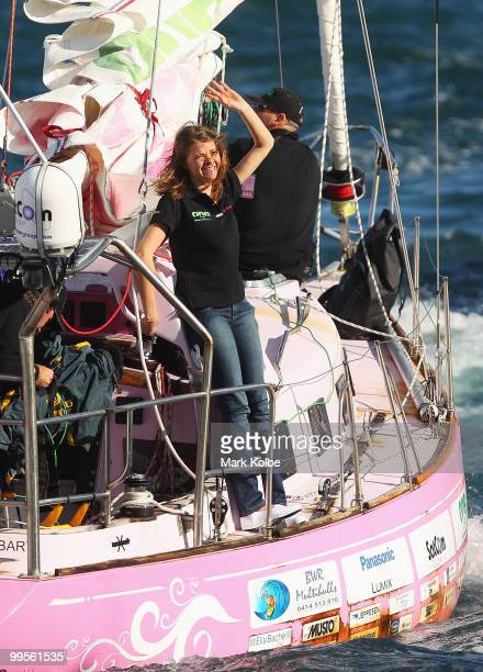 Teen sailor Jessica Watson arrives back home in Sydney following her world record attempt to become the youngest person to sail solo nonstop and...