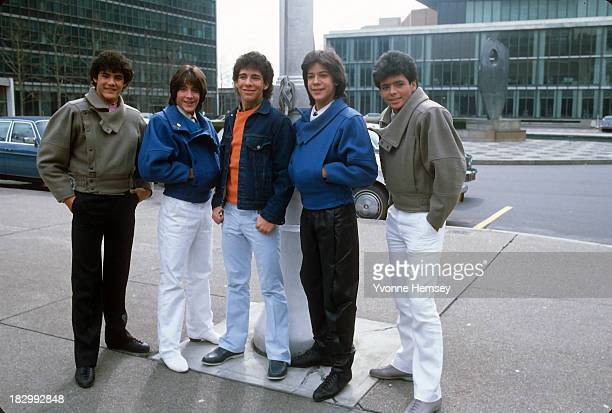 Teen sensation group Menudo is named first youth ambassadors for UNICEF the United Nations Children's Fund February 23 1984 in New York City
