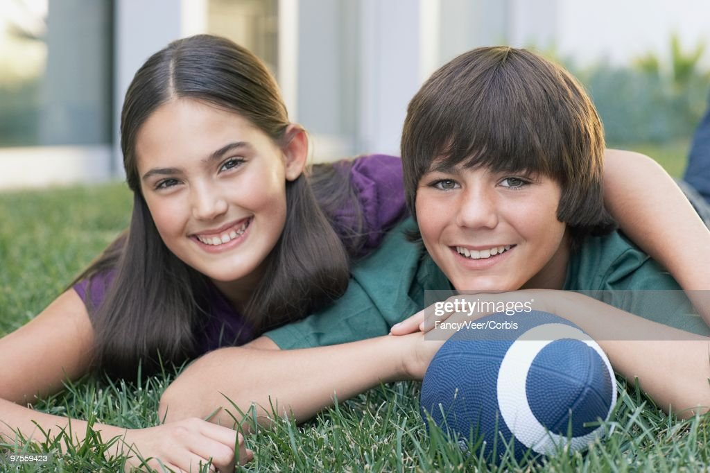 Teen sister and brother