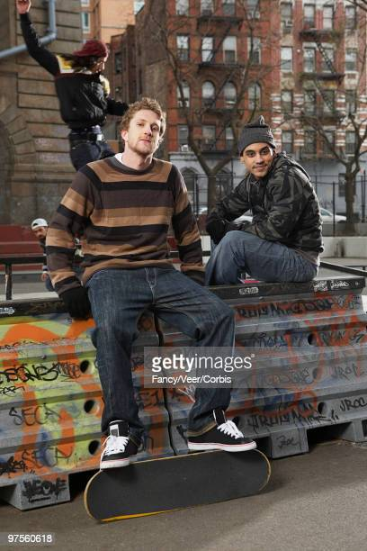 teen skateboarders - black alley stock photos and pictures