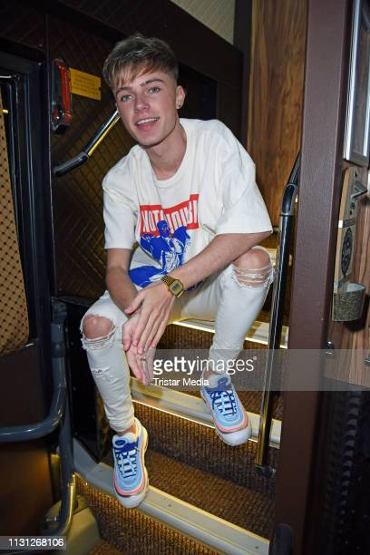 UK teen star and singer HRVY during an exclusive photo session at Frannz Club on March 17 2019 in Berlin Germany
