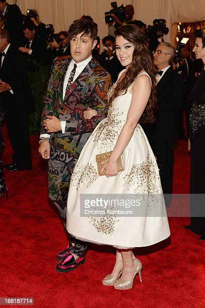 Teen Vogue editor Andrew Bevan and actress Hailee Steinfeld attend the Costume Institute Gala for the 'PUNK Chaos to Couture' exhibition at the...