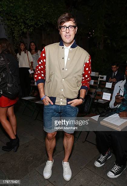 Teen Vogue editor Andrew Bevan attends the Billy Reid show during Spring 2014 MercedesBenz Fashion Week at The McKittrick Hotel on September 6 2013...