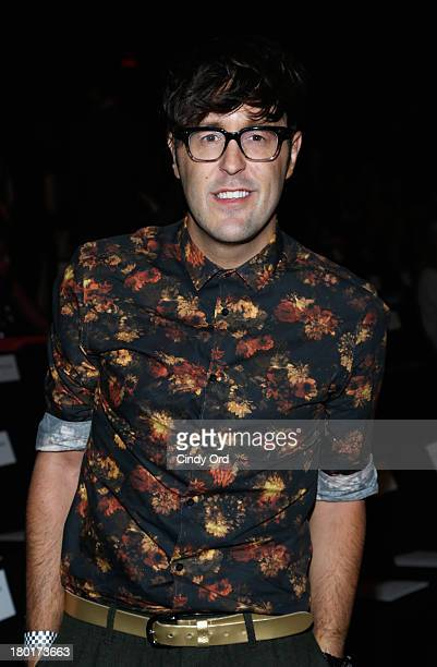 Teen Vogue editor Andrew Bevan attends the Kaufmanfranco fashion show during MercedesBenz Fashion Week Spring 2014 at The Theatre at Lincoln Center...