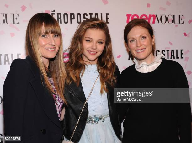 Teen Vogue EditorinChief Amy Astley actress Chloe Grace Moretz and actress Julianne Moore attend the 10th Anniversary of Teen Vogue and Aeropostale's...