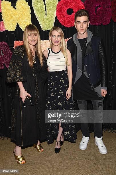 Teen Vogue EditorinChief Amy Astley actress Emma Roberts and actor GabrielKane DayLewis attend as Teen Vogue and Aerie celebrate Emma Roberts...