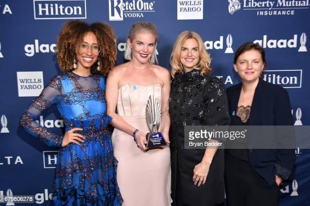 Teen Vogue EditorinChief Elaine Welteroth Teen Vogue Wellness Editor Vera Papisova President and CEO of GLAAD Sarah Kate Ellis and Teen Vogue...