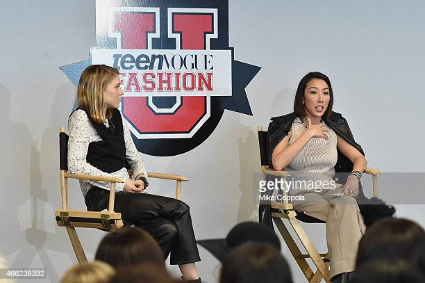 Teen Vogue Senior Market and Accessories Editor Jessica Minkoff and Jewelry designer Cynthia Sakai speak during Teen Vogue's 10th Annual Fashion...